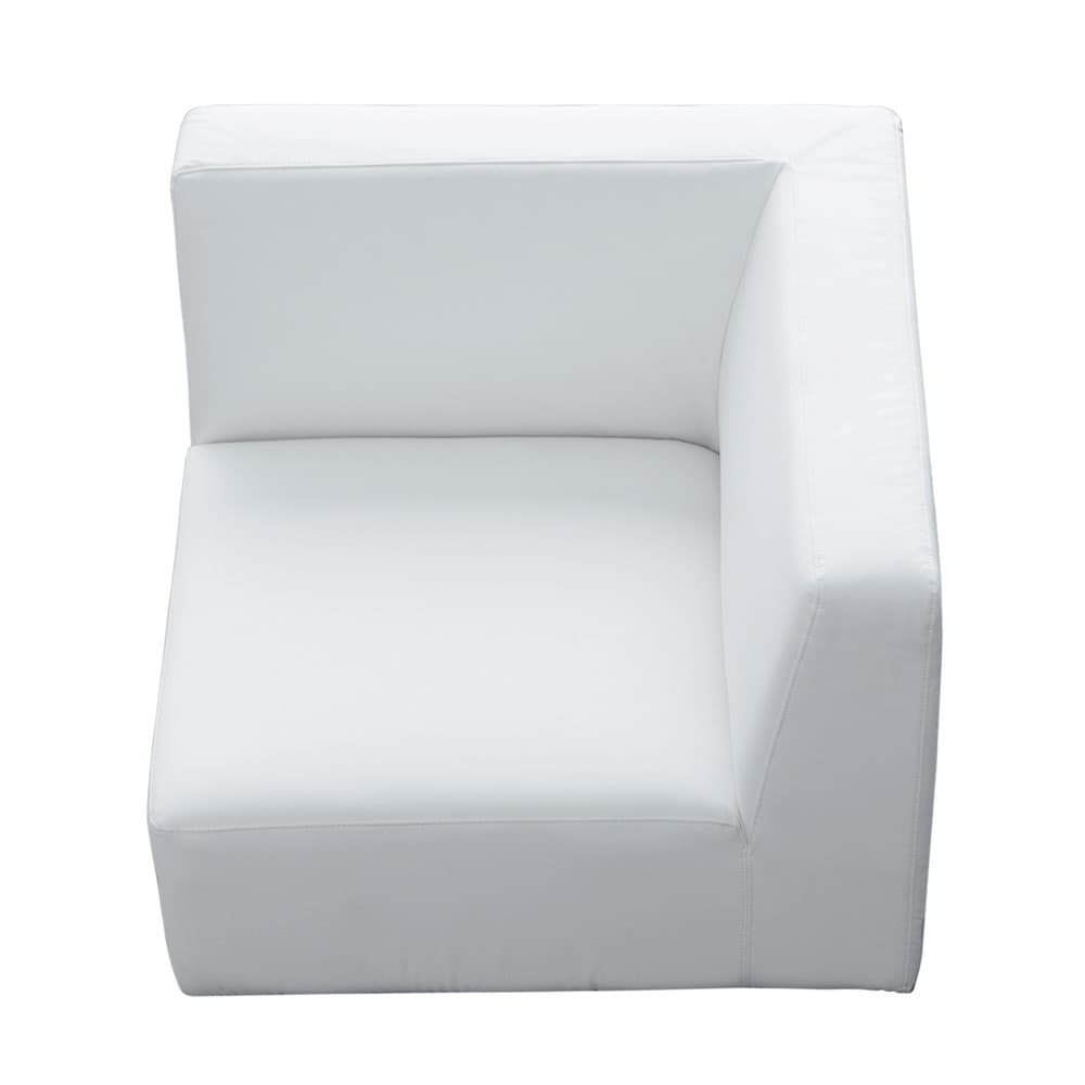 fauteuil d 39 angle imitation cuir blanc modulo maisons du monde. Black Bedroom Furniture Sets. Home Design Ideas