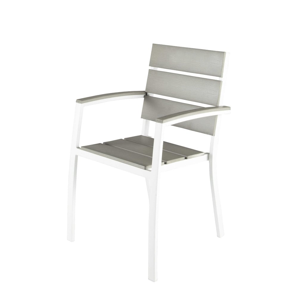 fauteuil de jardin en aluminium blanc escale maisons du monde. Black Bedroom Furniture Sets. Home Design Ideas