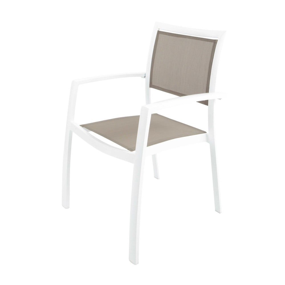 fauteuil de jardin en aluminium blanc hawai maisons du monde. Black Bedroom Furniture Sets. Home Design Ideas