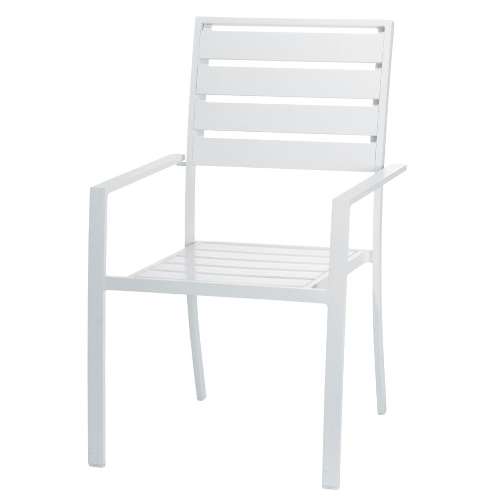 fauteuil de jardin en aluminium blanc portofino maisons du monde. Black Bedroom Furniture Sets. Home Design Ideas