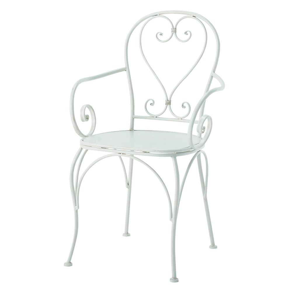 Fauteuil de jardin en fer forg ivoire st germain - Mousse pour fauteuil pas cher ...