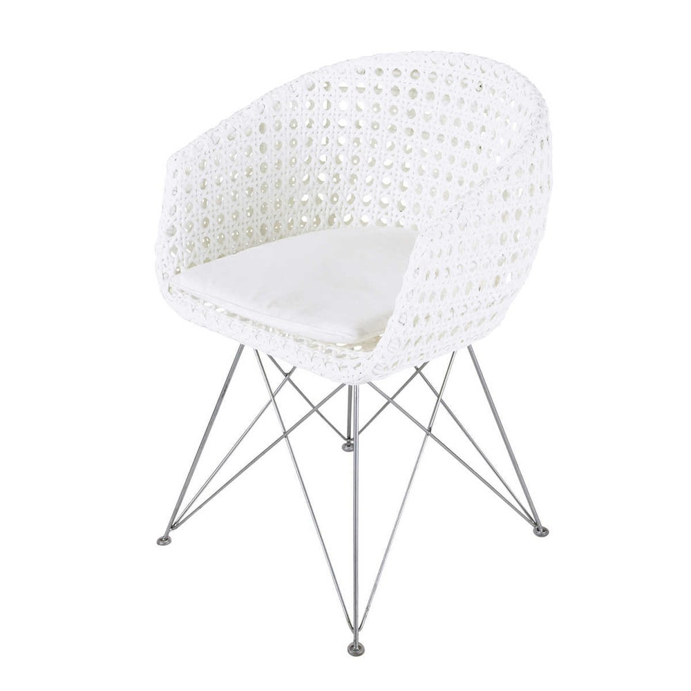 fauteuil de jardin en m tal et r sine blanc veli maisons du monde. Black Bedroom Furniture Sets. Home Design Ideas