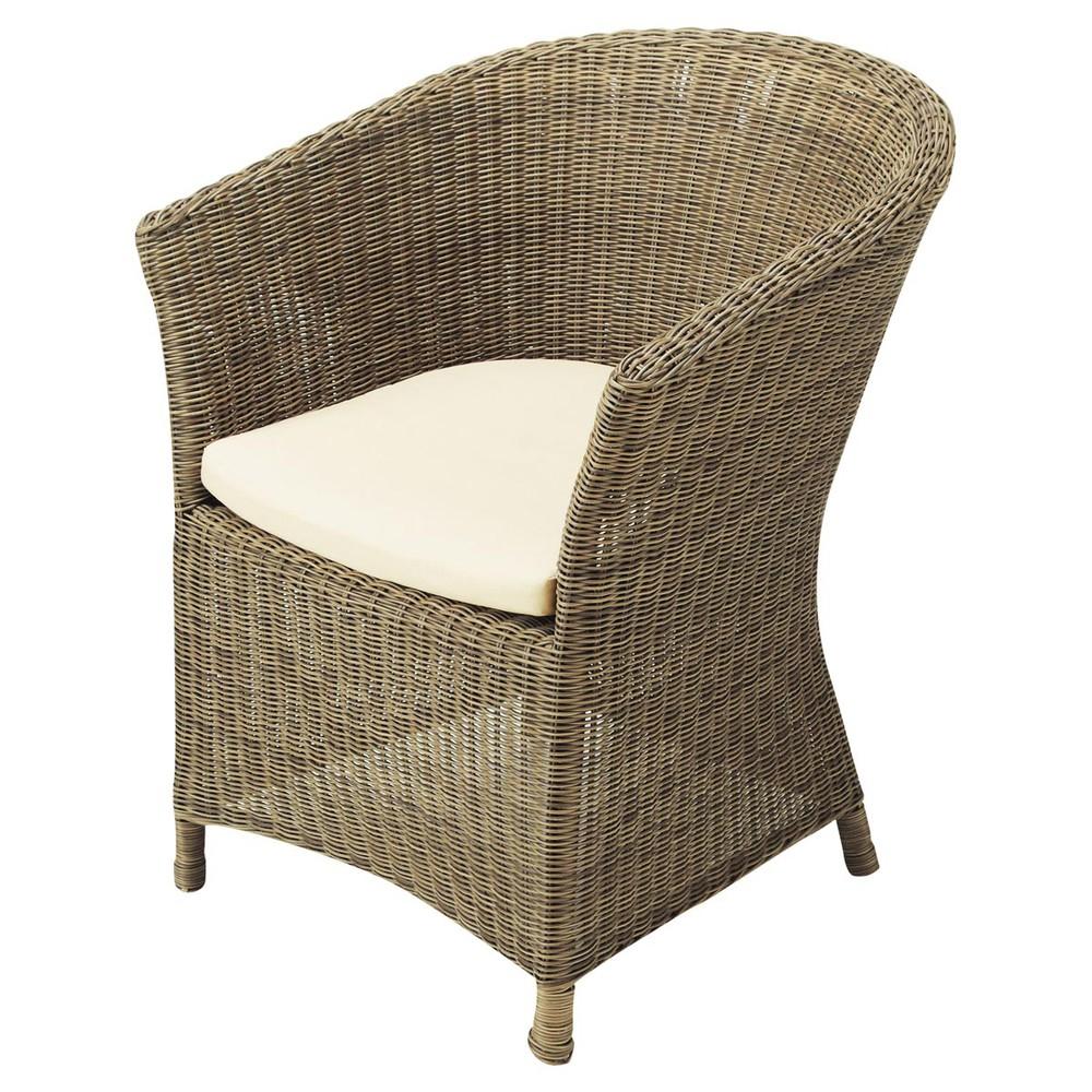 fauteuil de jardin en r sine tress e adelie maisons du monde. Black Bedroom Furniture Sets. Home Design Ideas