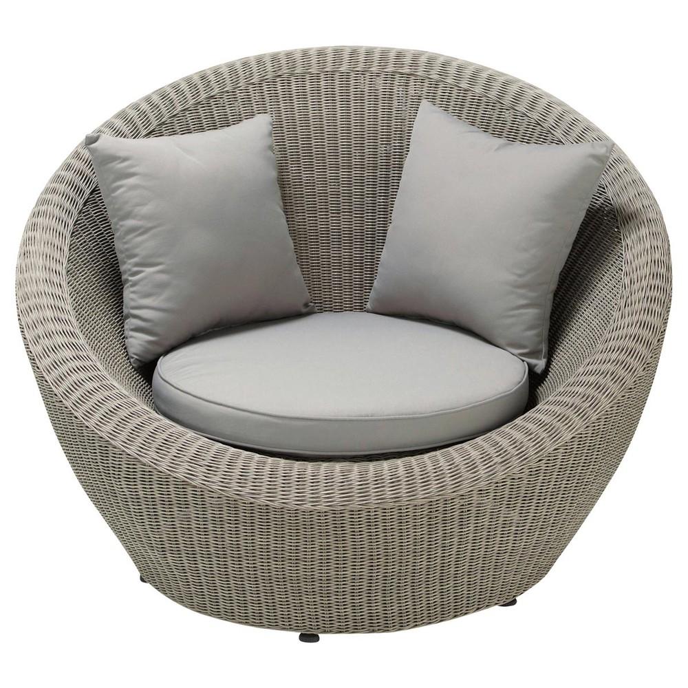 fauteuil de jardin en r sine tress e grise cape town. Black Bedroom Furniture Sets. Home Design Ideas
