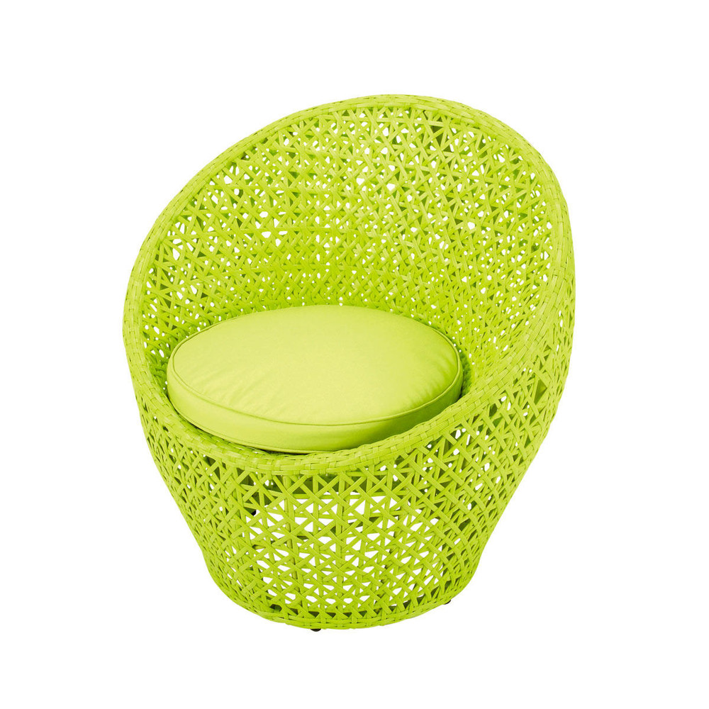 fauteuil de jardin en r sine tress e vert anis durban maisons du monde. Black Bedroom Furniture Sets. Home Design Ideas