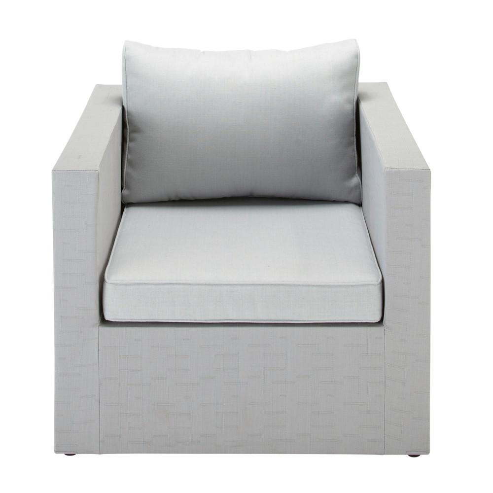 fauteuil de jardin en tissu gris clair ibiza maisons du. Black Bedroom Furniture Sets. Home Design Ideas