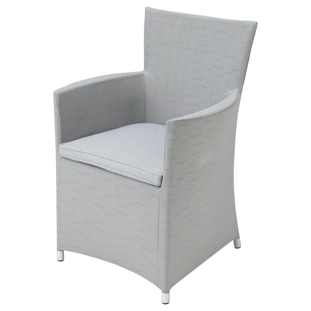 fauteuil de jardin en tissu gris clair ibiza maisons du monde. Black Bedroom Furniture Sets. Home Design Ideas