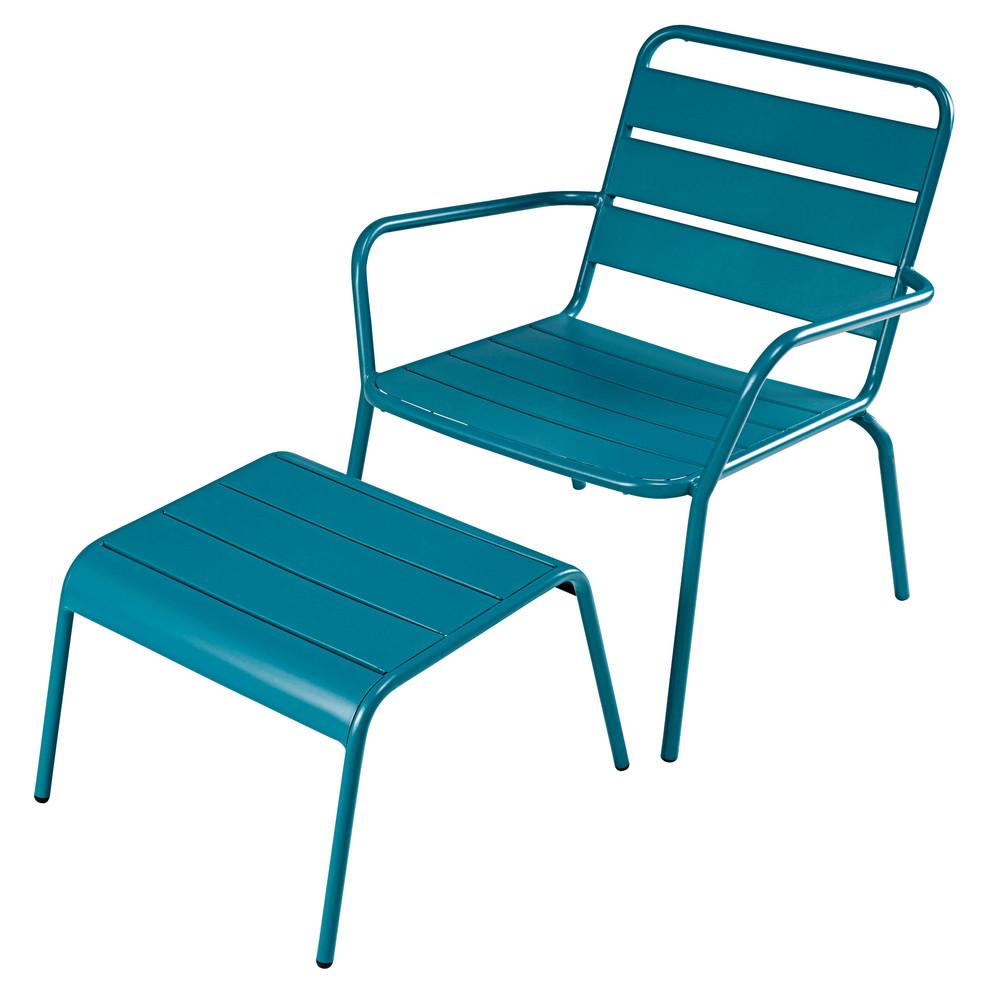 Fauteuil de jardin en metal fauteuil jardin noir | Djunails
