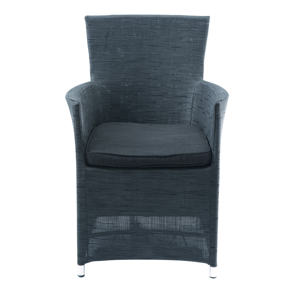 fauteuil de jardin gris anthracite ibiza maisons du monde. Black Bedroom Furniture Sets. Home Design Ideas