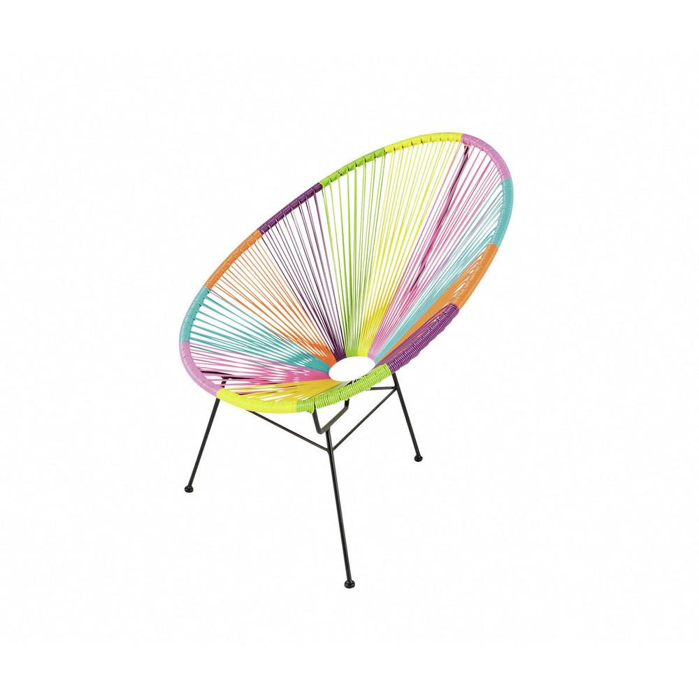 fauteuil de jardin rond multicolore copacabana maisons du monde. Black Bedroom Furniture Sets. Home Design Ideas