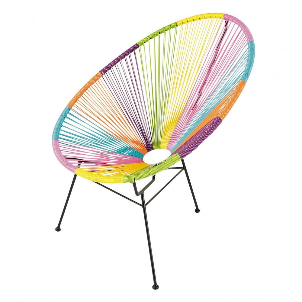 amazing fauteuil de jardin rond multicolore with chaise maison du monde solde. Black Bedroom Furniture Sets. Home Design Ideas