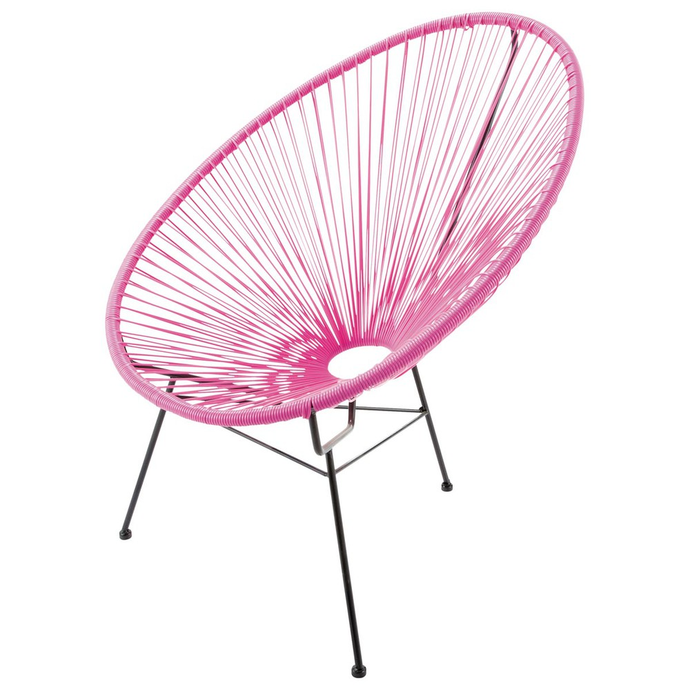 fauteuil de jardin rond rose copacabana maisons du monde. Black Bedroom Furniture Sets. Home Design Ideas