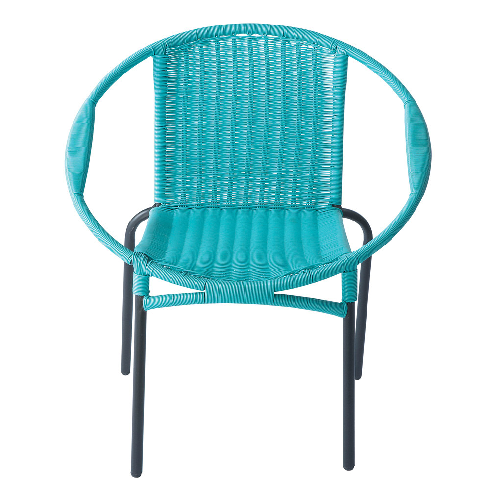 fauteuil de jardin rond turquoise rio maisons du monde. Black Bedroom Furniture Sets. Home Design Ideas