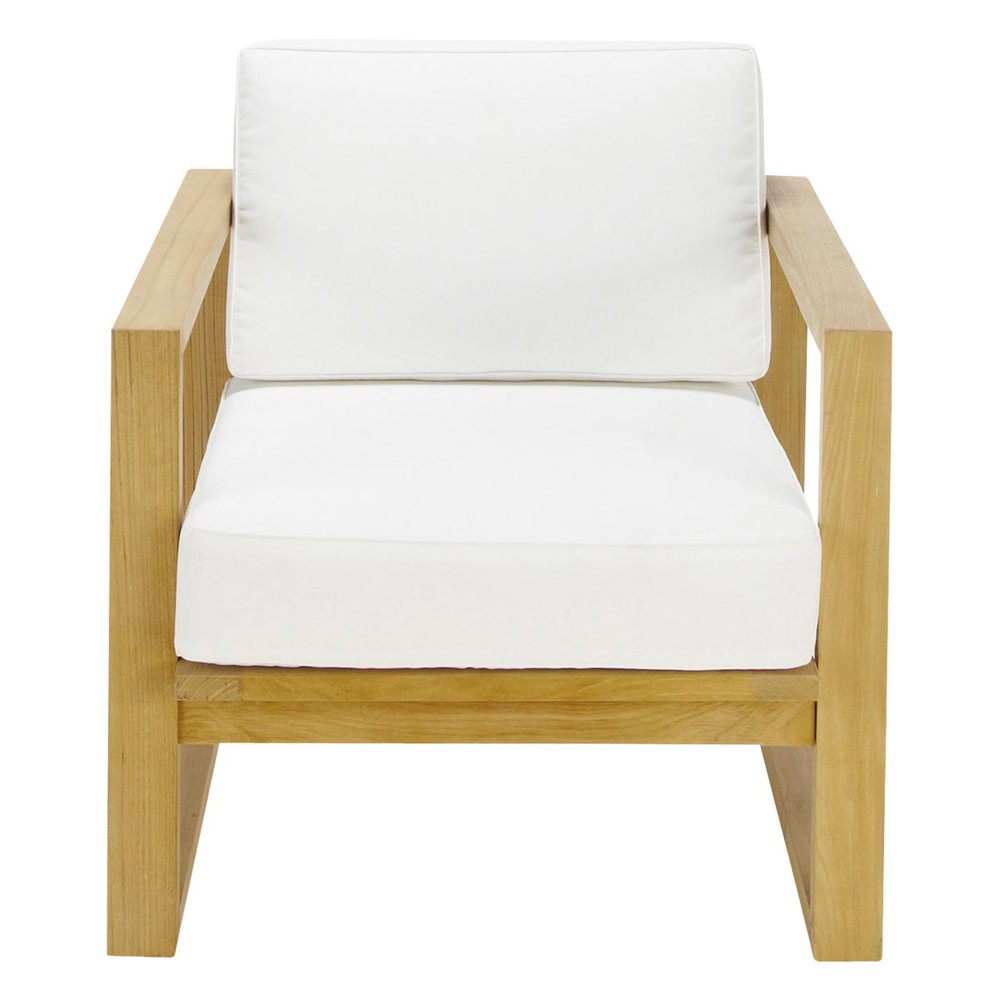 fauteuil de jardin teck cru cagliari maisons du monde. Black Bedroom Furniture Sets. Home Design Ideas