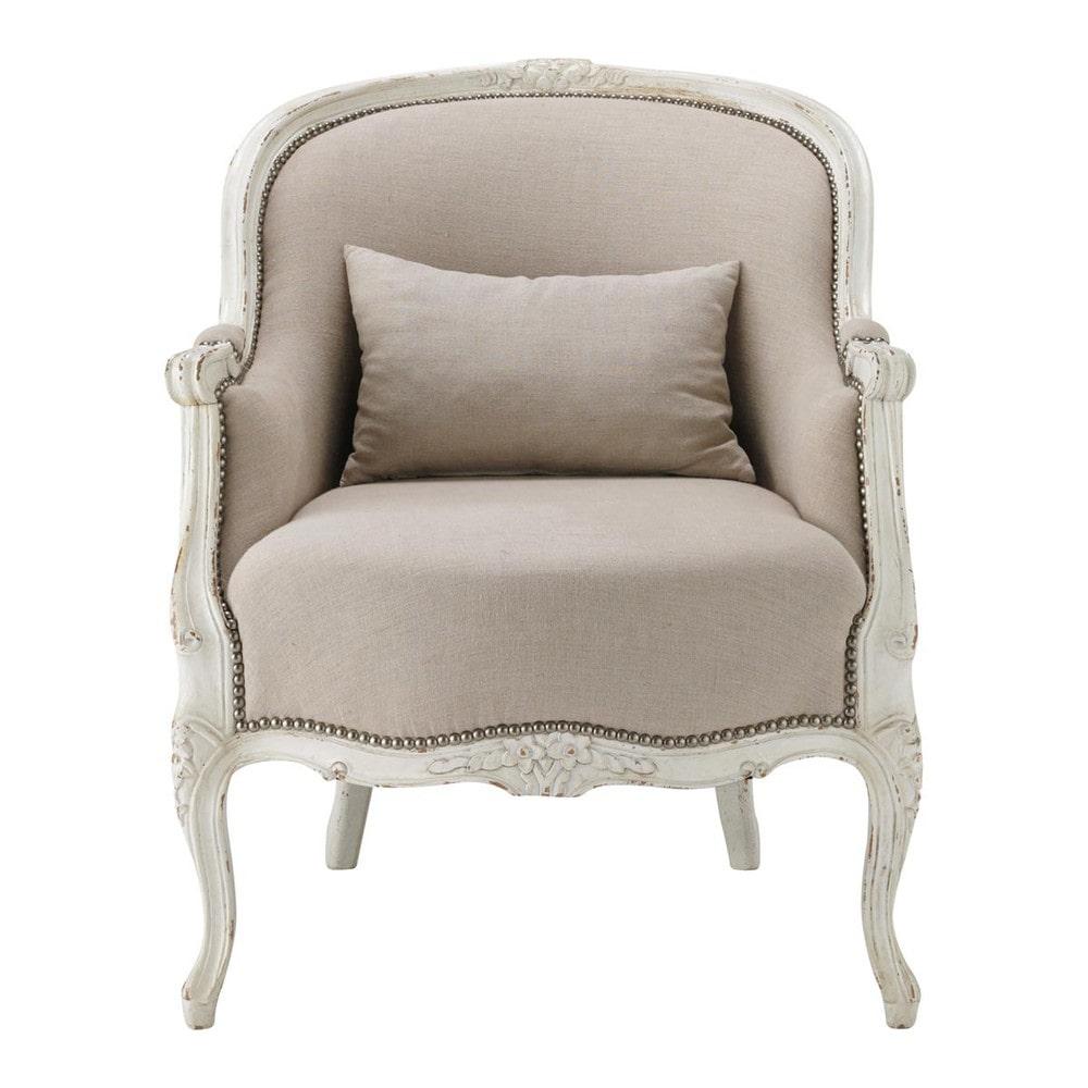 Fauteuil en lin montpensier maisons du monde - Maison du monde fauteuil crapaud ...