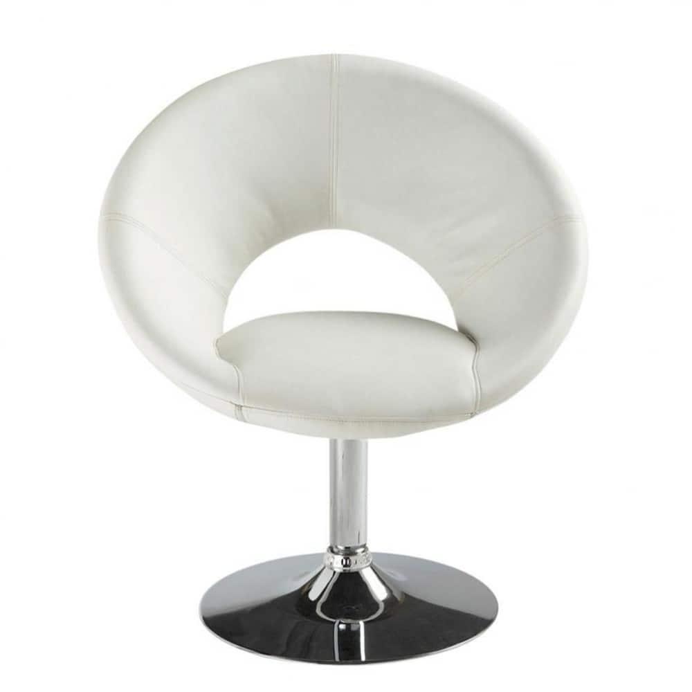 fauteuil en polyur thane blanc pop art maisons du monde. Black Bedroom Furniture Sets. Home Design Ideas