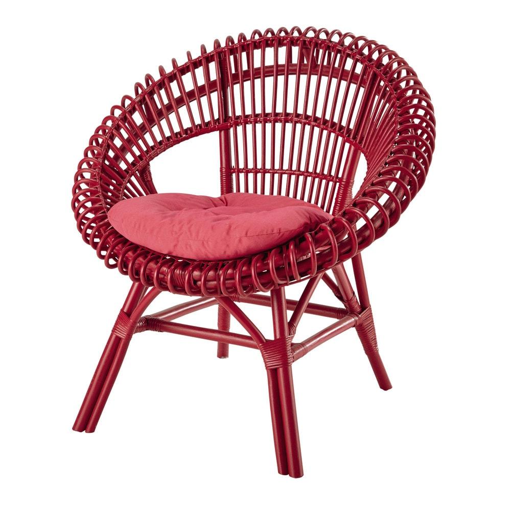 fauteuil en rotin fuchsia smoothie maisons du monde. Black Bedroom Furniture Sets. Home Design Ideas