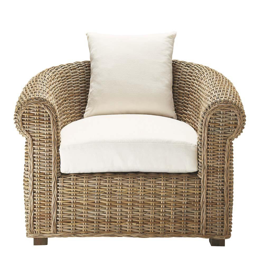 fauteuil en rotin kubu ste maxime maisons du monde. Black Bedroom Furniture Sets. Home Design Ideas