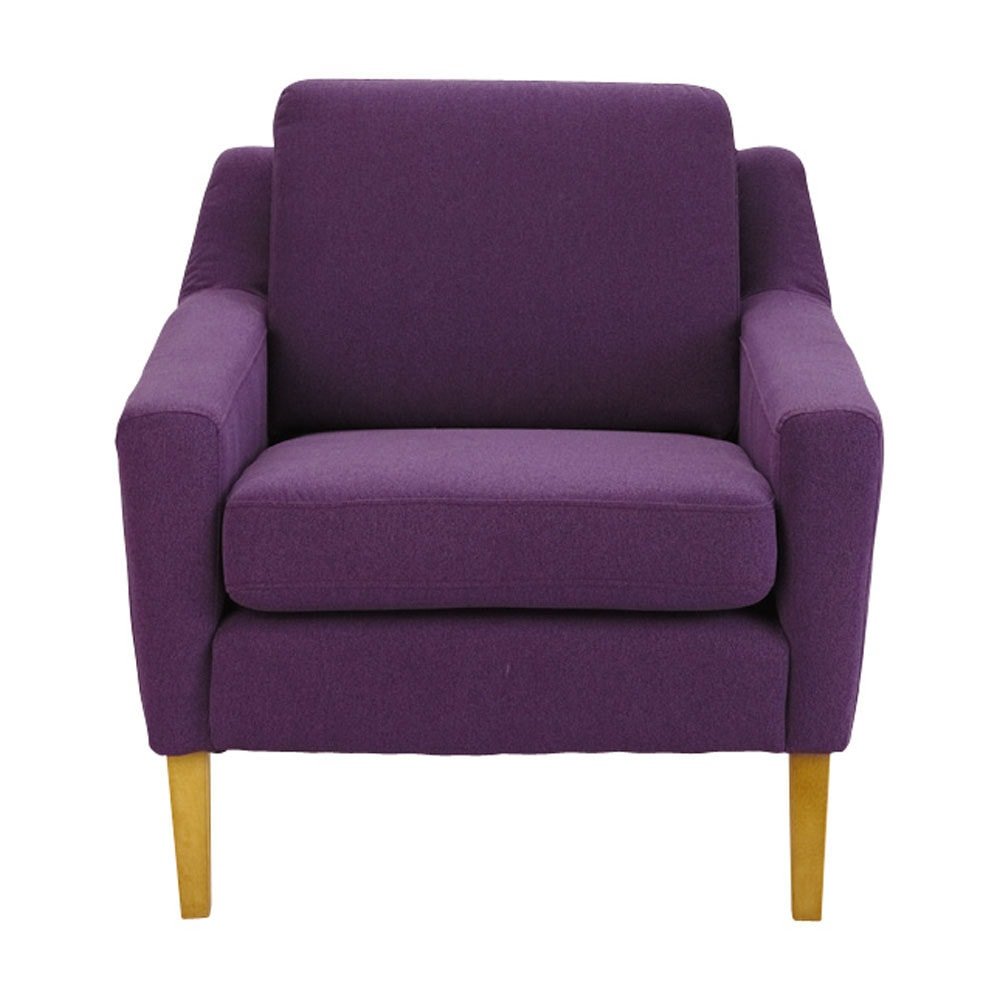 fauteuil en tissu violet mad men maisons du monde. Black Bedroom Furniture Sets. Home Design Ideas