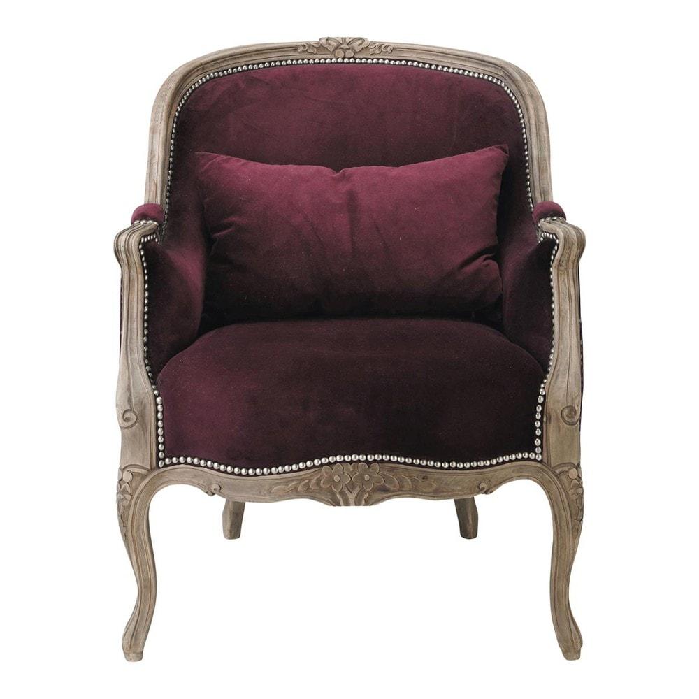 Fauteuil en velours violet montpensier maisons du monde - Fauteuil maison du monde occasion ...