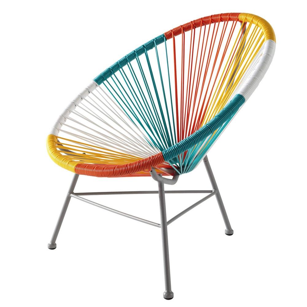 fauteuil enfant en m tal et r sine multicolore copacabana maisons du monde. Black Bedroom Furniture Sets. Home Design Ideas