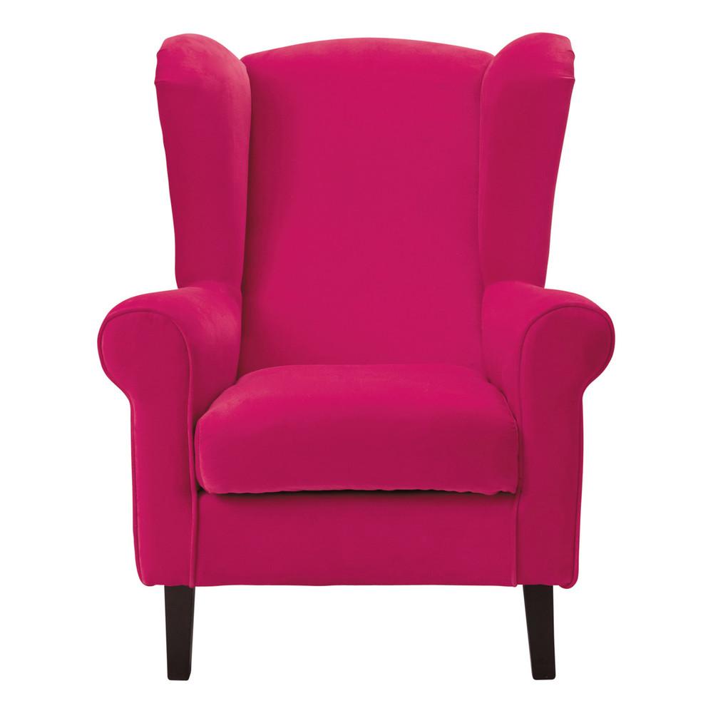fauteuil enfant velours rose fuchsia velvet maisons du monde
