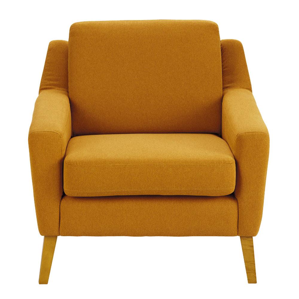 fauteuil linara orange mad men maisons du monde