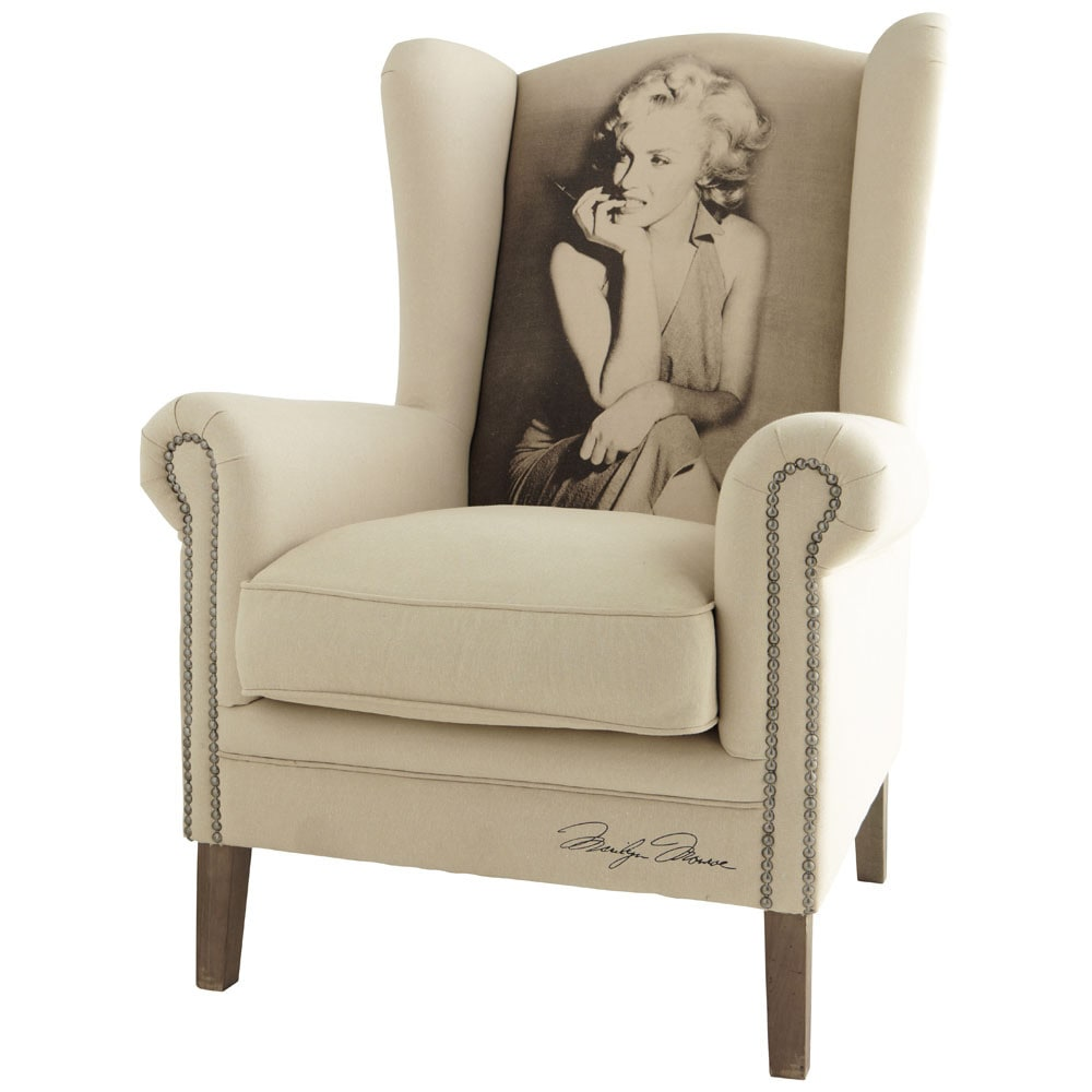 fauteuil marilyn celebrity maisons du monde. Black Bedroom Furniture Sets. Home Design Ideas