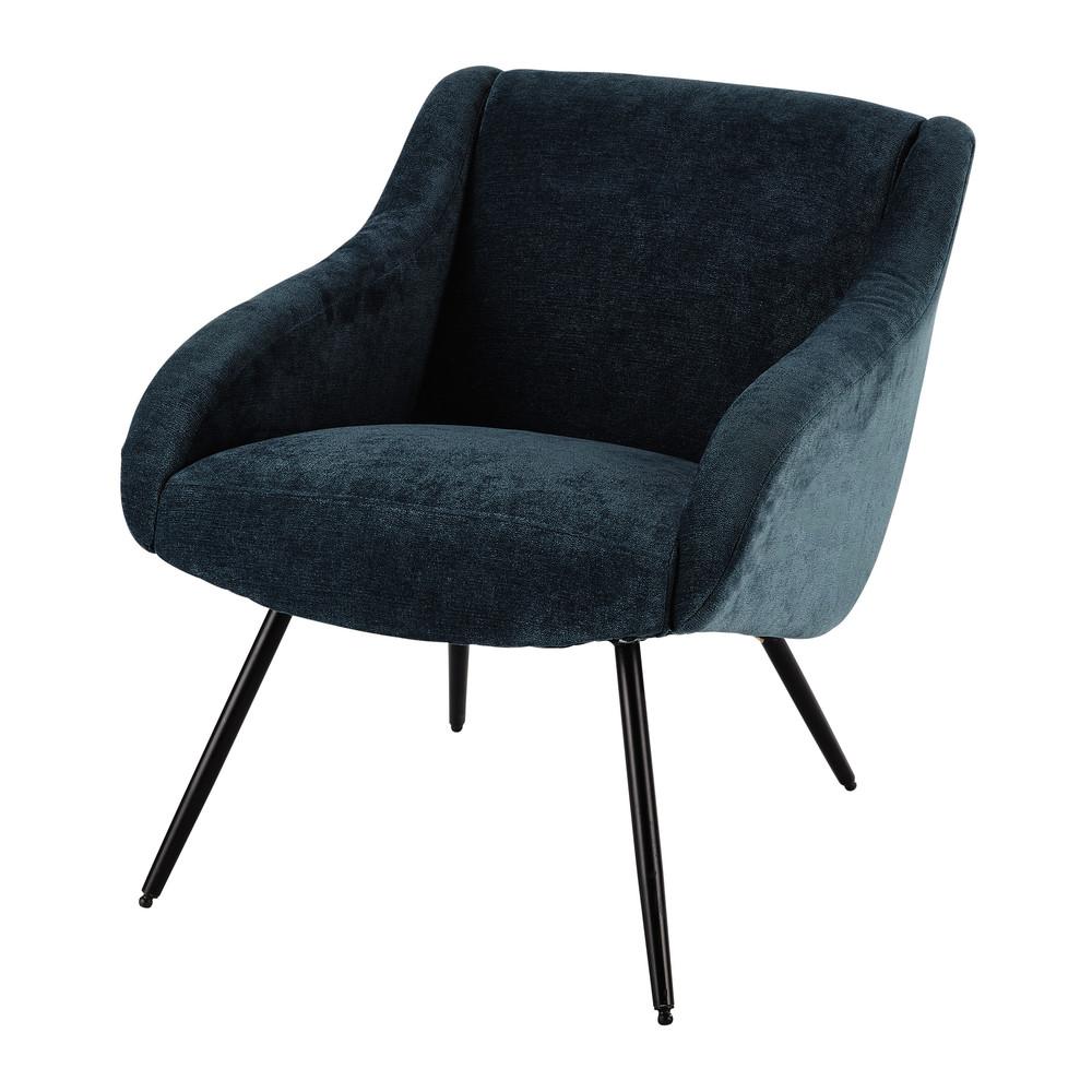 Fauteuil met stoffen bekleding vintage stijl blauw joyce - Fauteuil vintage maison du monde ...