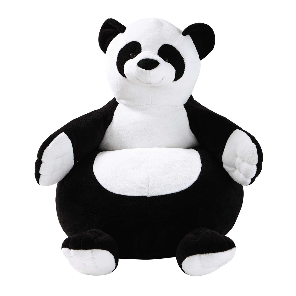 fauteuil panda pour enfant h 58 cm maisons du monde. Black Bedroom Furniture Sets. Home Design Ideas