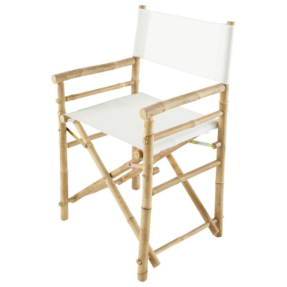 fauteuil pliant de jardin en bambou robinson maisons du monde. Black Bedroom Furniture Sets. Home Design Ideas