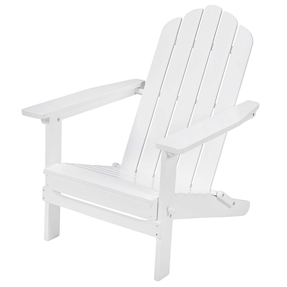 fauteuil pliant en acacia blanc ontario maisons du monde. Black Bedroom Furniture Sets. Home Design Ideas