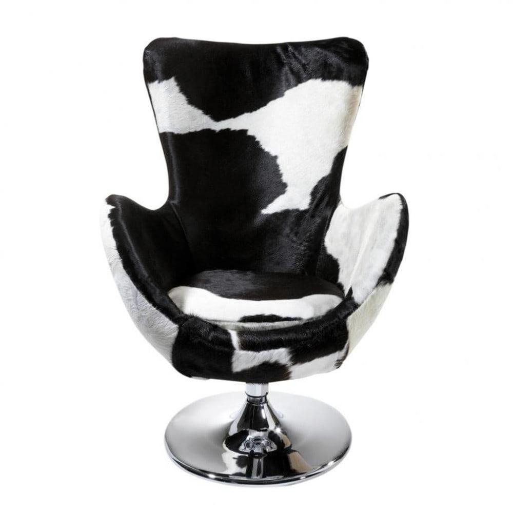 fauteuil tulipe vache | maisons du monde - Chaise Tulipe Maison Du Monde