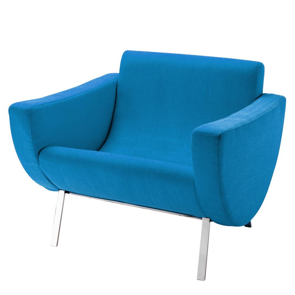 fauteuil vintage bleu guariche mandarine maisons du monde. Black Bedroom Furniture Sets. Home Design Ideas