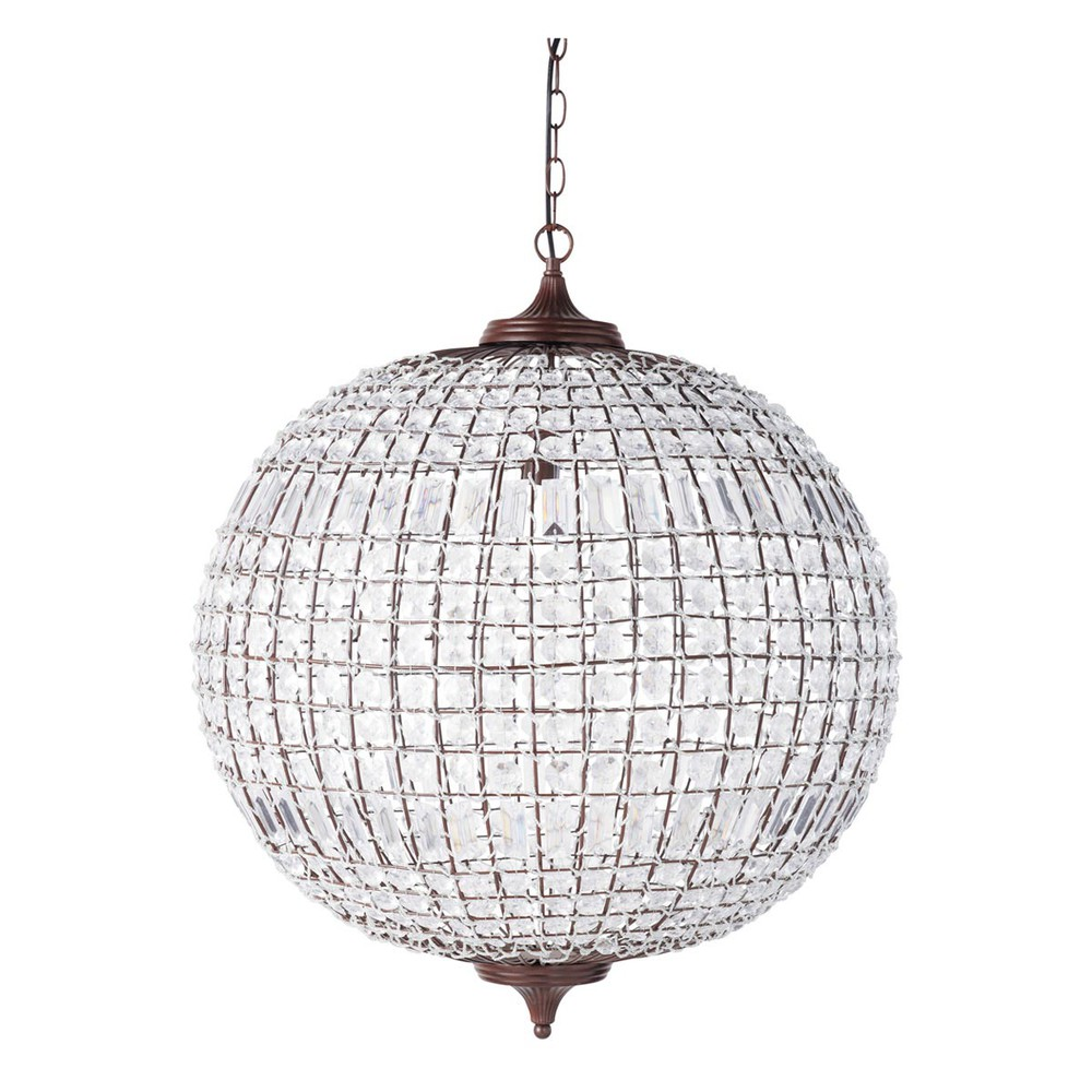 finon metal ball ceiling light d 60cm maisons du monde. Black Bedroom Furniture Sets. Home Design Ideas