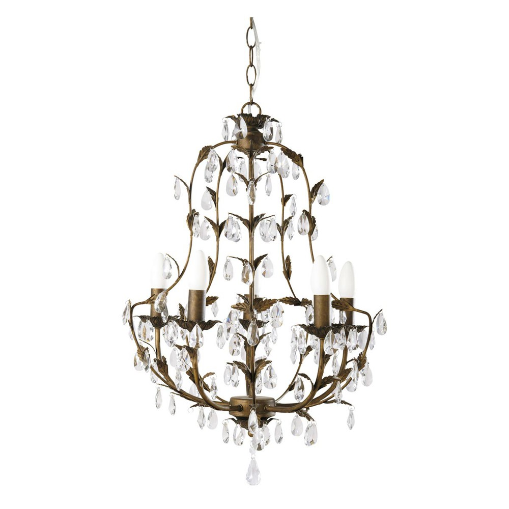 florence metal chandelier maisons du monde. Black Bedroom Furniture Sets. Home Design Ideas