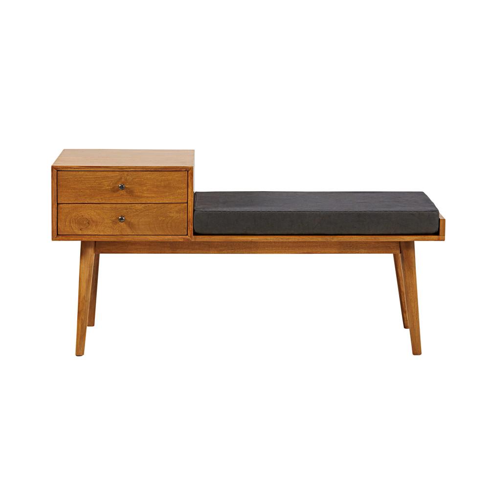flurbank im vintage stil mit 2 schubladen aus mangoholz l120 flynn maisons du monde. Black Bedroom Furniture Sets. Home Design Ideas