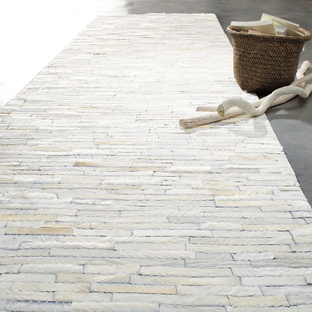 Flur teppich  Flurteppich Arty weiß 80x300 | Maisons du Monde