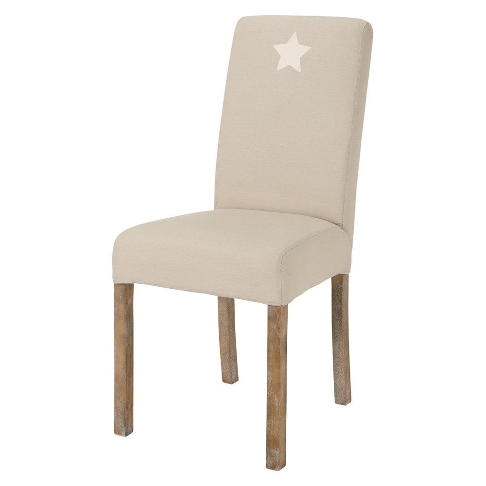 fodera beige in cotone con stella per sedia margaux maisons du monde. Black Bedroom Furniture Sets. Home Design Ideas
