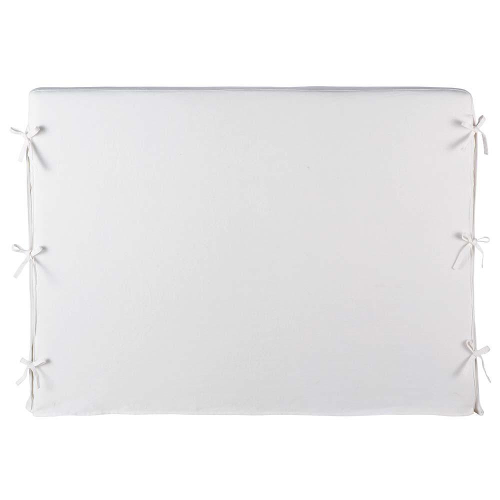 Fodera della testata letto bianca 160 cm dream dream - Fodera testata letto ...