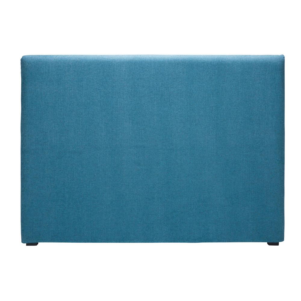 Fodera di testata da letto 160 cm in tessuto blu cobalto - Fodera testata letto ...