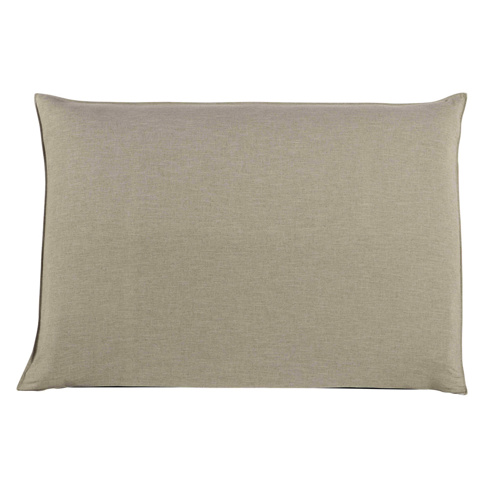 Fodera di testata da letto beige 160 cm soft maisons du - Fodera testata letto ...