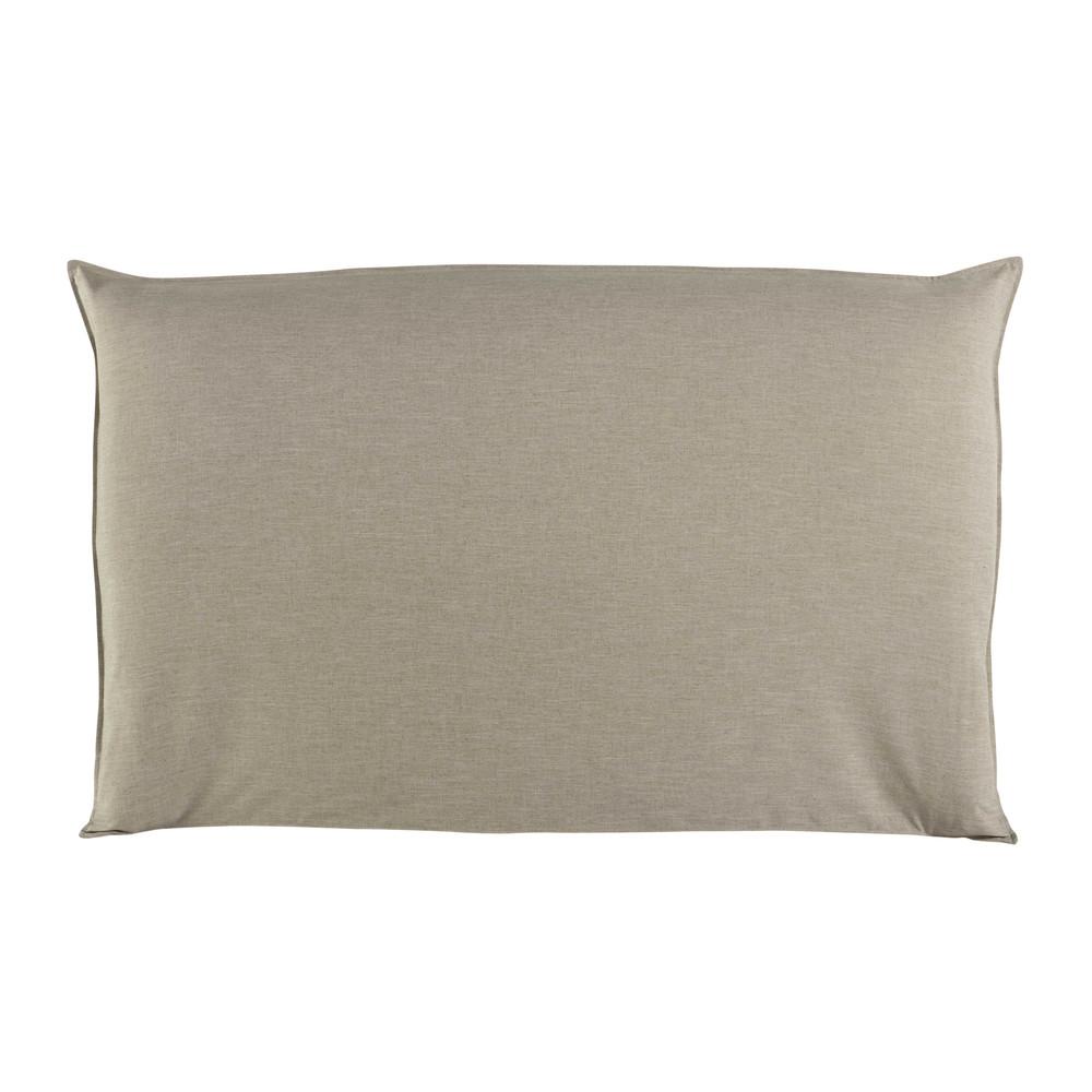 Fodera di testata da letto beige 180 cm soft maisons du monde - Fodera testata letto ...