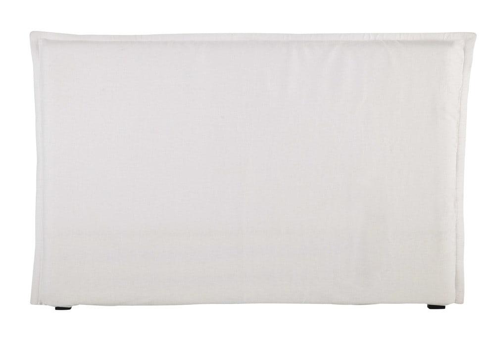 Fodera di testata da letto bianca in lino slavato 180 cm morphee maisons du monde - Fodera testata letto ...