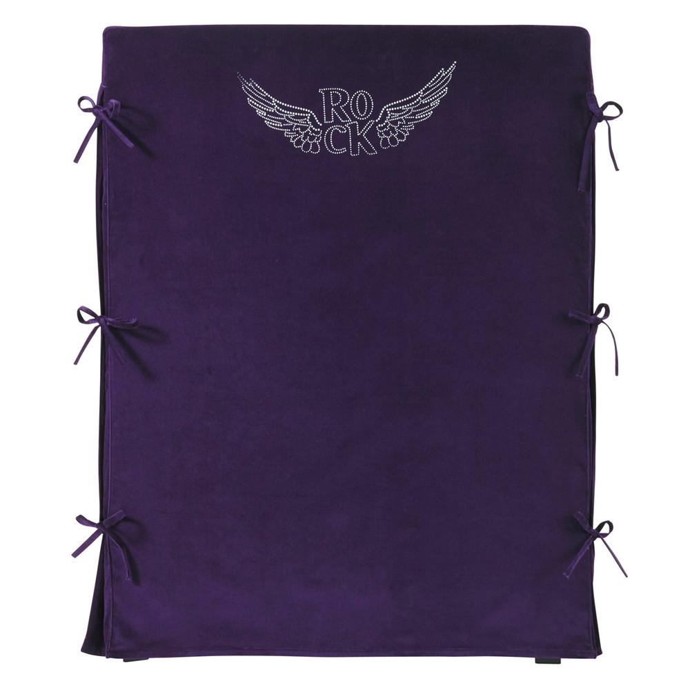 Fodera di testata da letto color viola per bambini rock 90 - Fodera testata letto ...