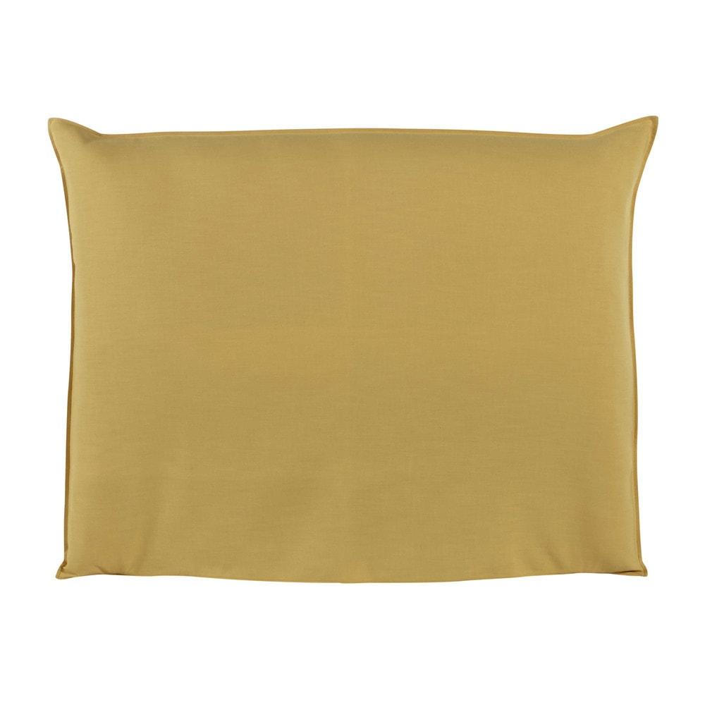 Fodera di testata da letto giallo senape 140 cm soft - Fodera testata letto ...