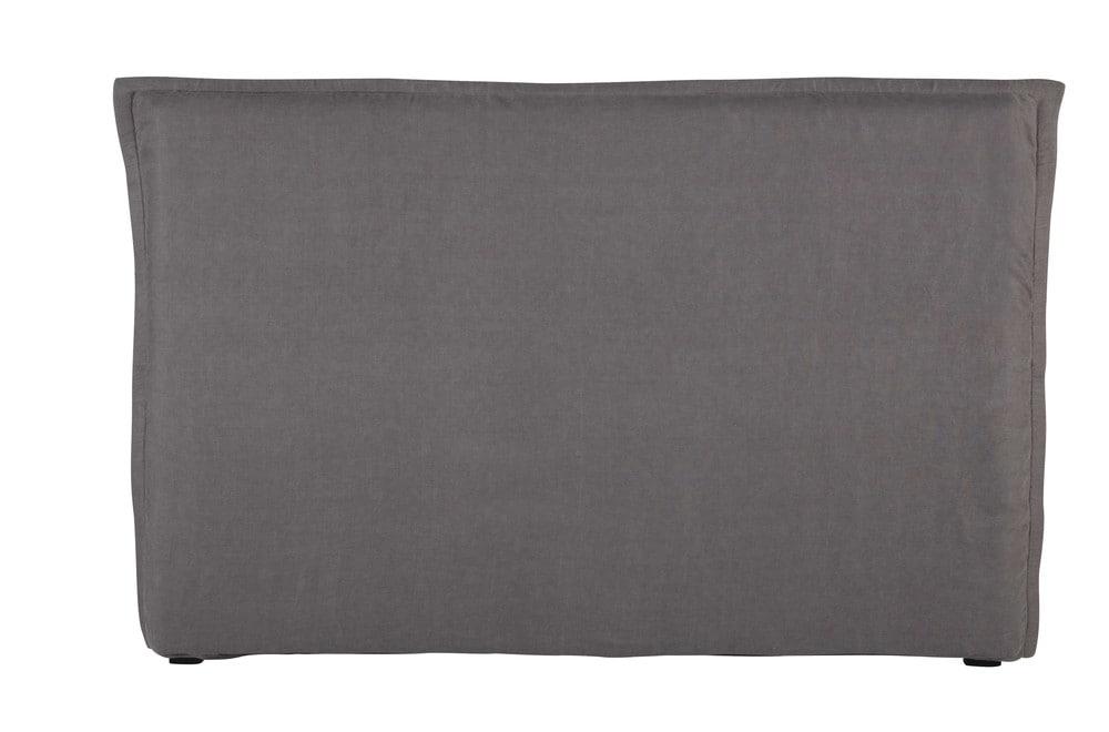 Fodera di testata da letto grigia in lino slavato 180 cm - Fodera testata letto ...