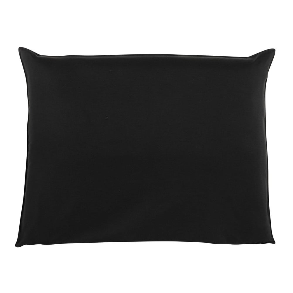 Fodera di testata da letto nera 140 cm soft maisons du monde - Fodera testata letto ...