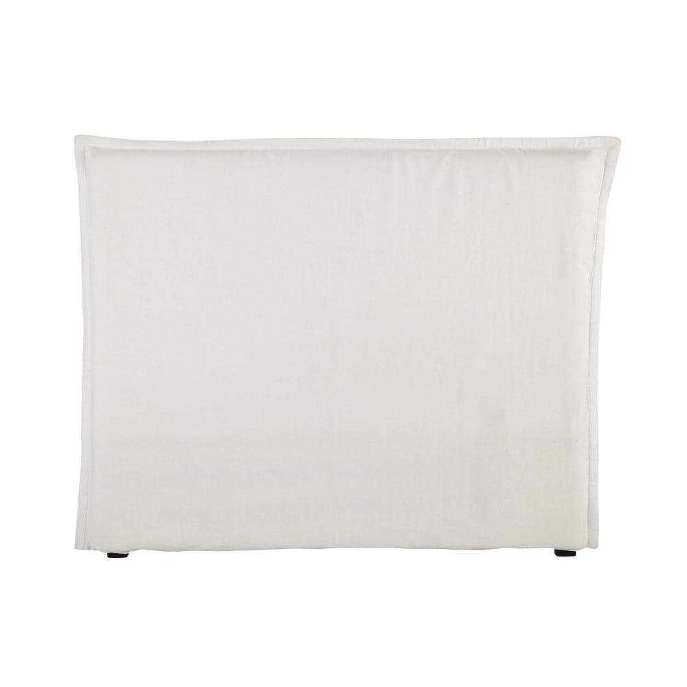Fodera per testiera del letto 140 in lino lavato bianco morph e morph e maisons du monde - Fodera testata letto ...