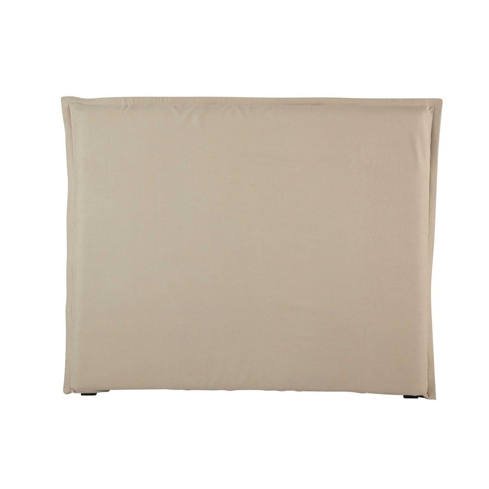 Fodera per testiera del letto 140 in lino lavato morph e - Cuscini per spalliera letto ...